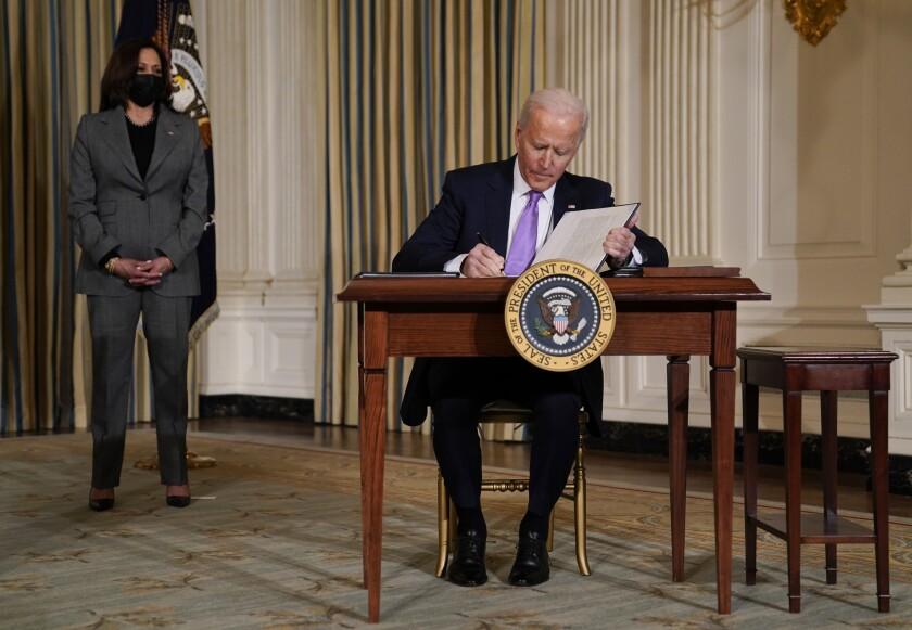 El presidente Joe Biden en la Casa Blanca en Washington el 26 de enero del 2021.
