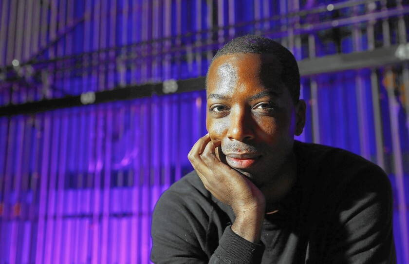 Tristan Walker, founder and CEO of Walker & Co. Brands, visits the Dolby Theatre in Hollywood before speaking on a panel about diversity in tech start-ups.