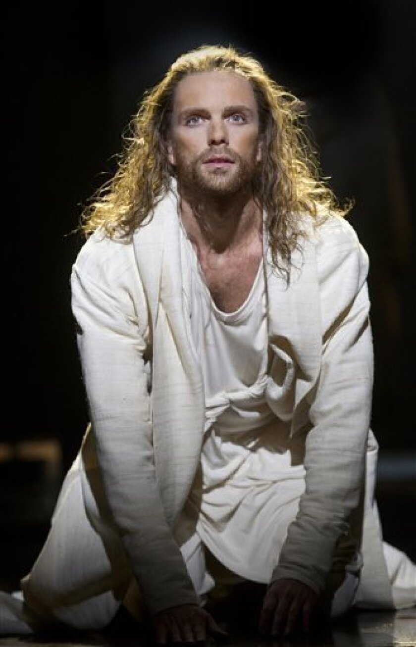 """Paul Nolan in the Broadway production of """"Jesus Christ Superstar,"""" directed by Des McAnuff."""