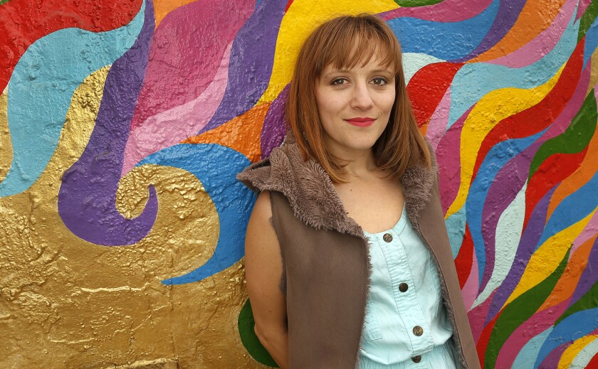LOS ANGELES, CA – May 2, 2018: Los Angeles composer Ellen Reid photographed in the Silver Lake