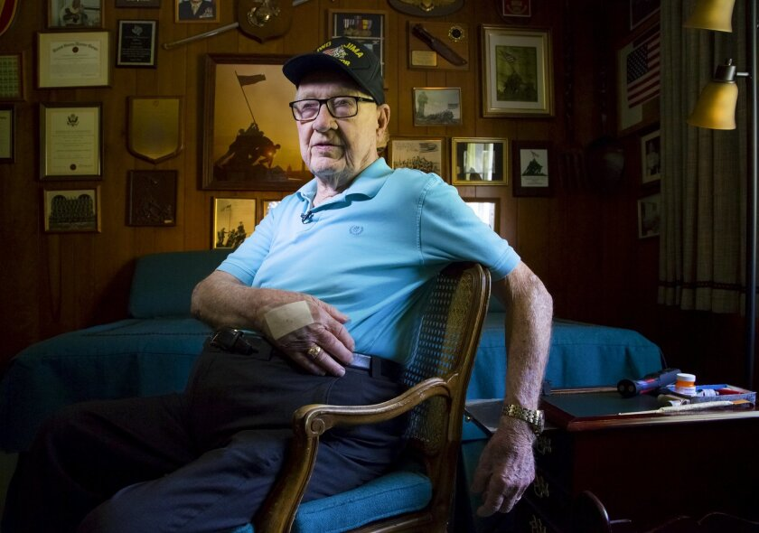 Dave Severance served in the U.S. Marines as a young captain in charge of an infantry company where he led Marines into battle on Iwo Jima during WWII.