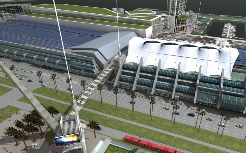 The proposed convention center expansion is expected to open in 2015.