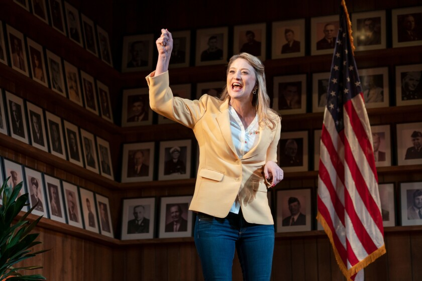 "Heidi Shreck in ""What the Constitution Means to Me"" on Broadway. The Los Angeles run of the play just announced a one-week extension."