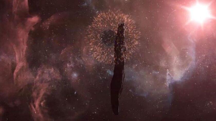El intruso espacial Oumuanua, que fue detectado recientemente proveniente de otro sistema solar, está girando caóticamente y continuará haciéndolo durante más de 1.000 millones de años.