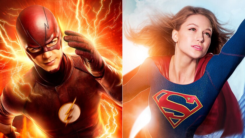 Barry Allen as the Flash and Melissa Benoist as Supergirl will be meeting up on the small screen next month.