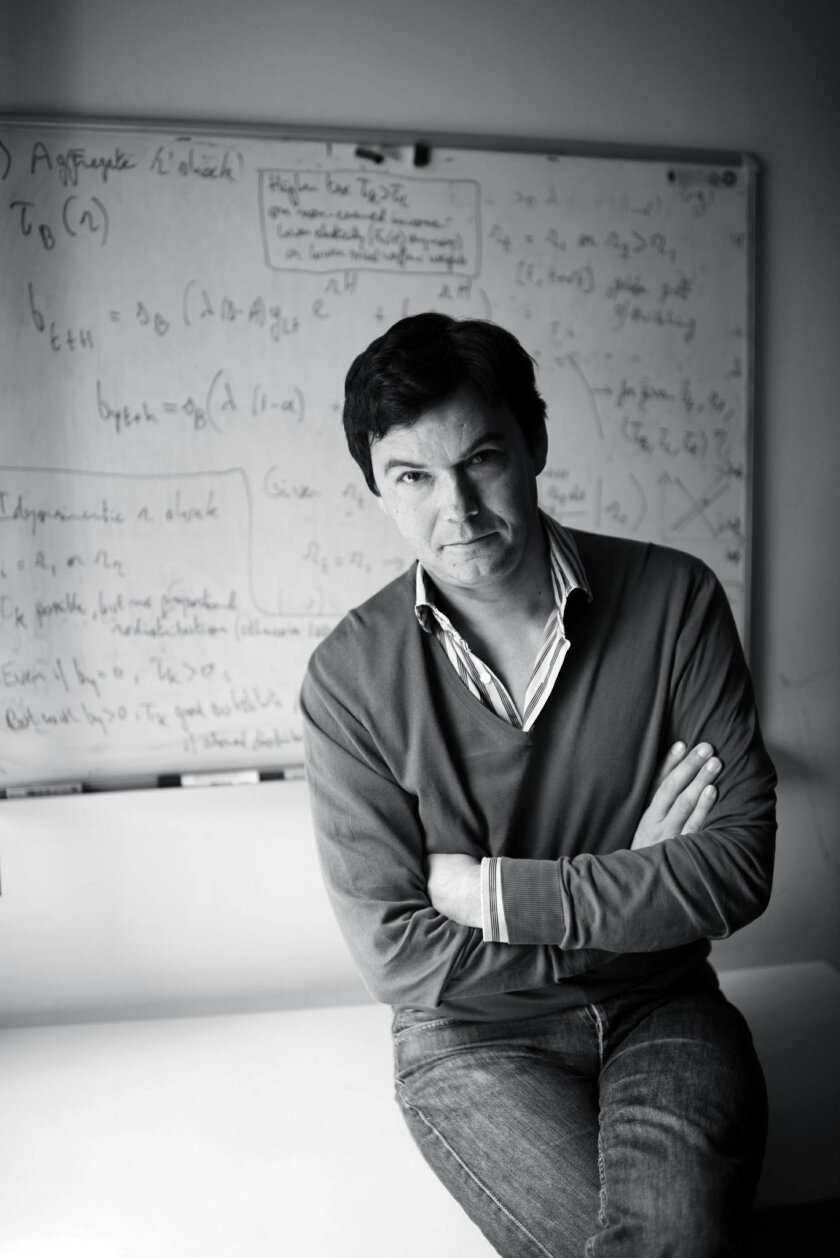 This undated photo provided by Harvard Press shows French economist Thomas Piketty. In his new book, Piketty, who helped popularize the notion of a privileged 1 percent, sounds a grim warning: The U.S. economy is beginning to decay into the aristocratic Europe of the 19th century. (AP Photo/Harvard