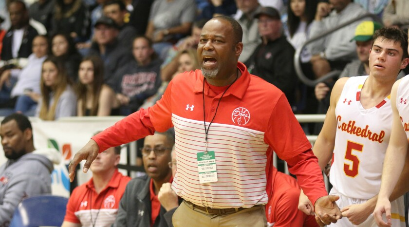 Cathedral Catholic Head Coach Will Cunningham, a three-time CIF champion, got his first in the Open Division.
