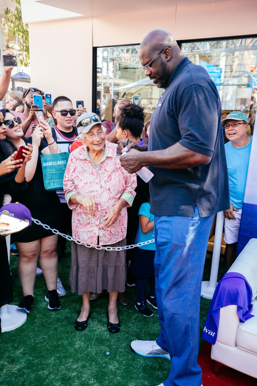 Carnival Cruises' chief fun officer Shaquille O'Neal greets fans last year at an event at the Grove celebrating the arrival of the Carnival Panorama ship.