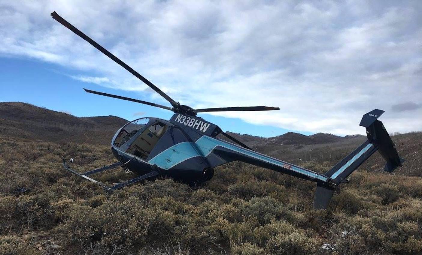 Las autoridades del condado de Wasatch indicaron que el alce saltó hacia el rotor de cola del helicóptero mientras volaba a unos 3 metros (10 pies) de altura sobre el suelo y trataba de capturar al animal con una red.