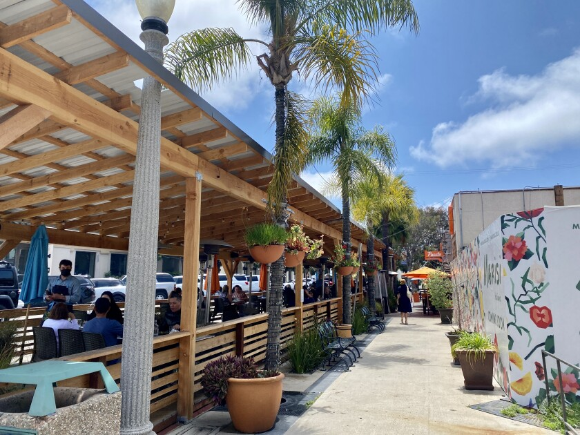 Puesto La Jolla has applied to extend the current use of parking spaces outside its Wall Street location up to five years.