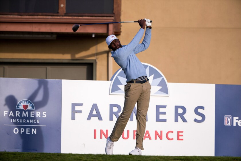 Kamaiu Johnson, a Tallahassee, Fla., native, plays during an APGA Tour event last year at Torrey Pines.