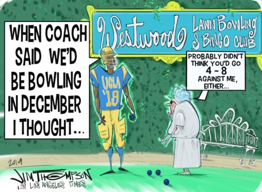 Jim Thompson illustrates the season UCLA football had.