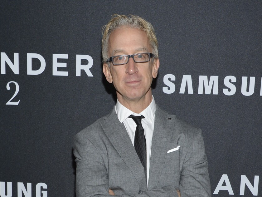 """FILE - This Feb. 9, 2016 file photo shows actor Andy Dick at the world premiere of """"Zoolander 2"""" in New York. Dick has been charged with groping a driver from a ride-hailing service. Los Angeles County prosecutors say he is expected to be arraigned Friday, Oct. 4, 2019, on a charge of misdemeanor sexual battery. They allege he groped a driver in West Hollywood on April 12, 2018. (Photo by Evan Agostini/Invision/AP, File)"""