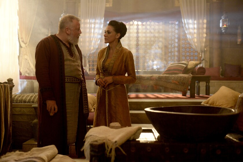 Ray Winstone and Simone Kessell in ABC's 'Of Kings and Prophets'