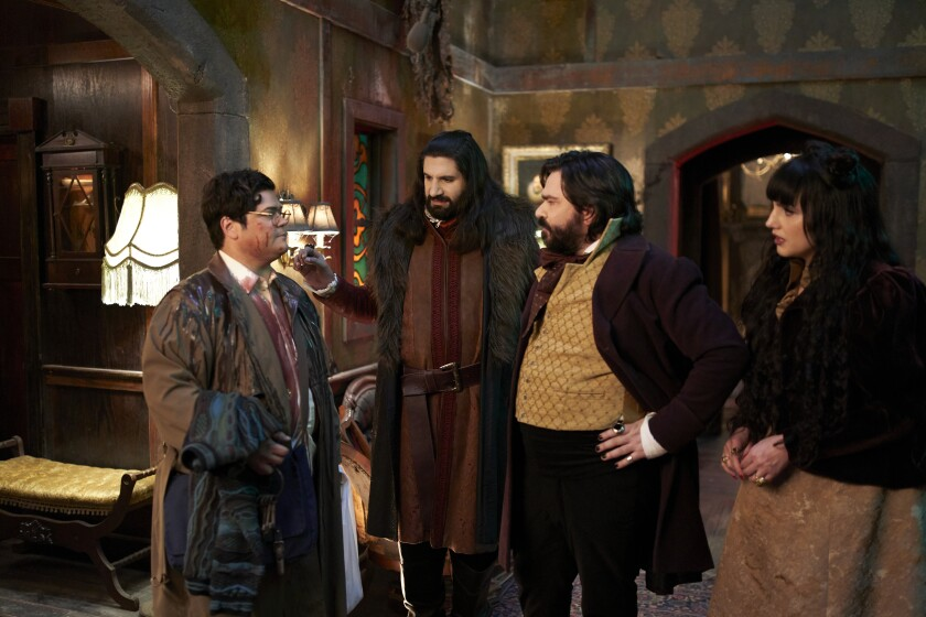 """The cast of FX's Emmy-nominated comedy """"What We Do in the Shadows."""""""