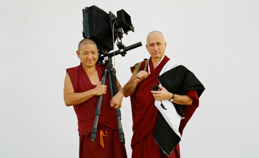 """Nicholas Vreeland, right, from """"Monk With a Camera."""""""