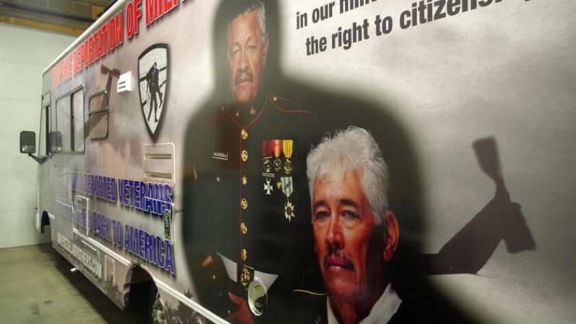 Detalle de la casa rodante que el veterano de la guerra de Vietnam Manuel Valenzuela compró y renovó para viajar por todo el país a partir de hoy viernes 14 de septiembre de 2018, en Colorado Springs, Colorado (EE.UU.). EFE