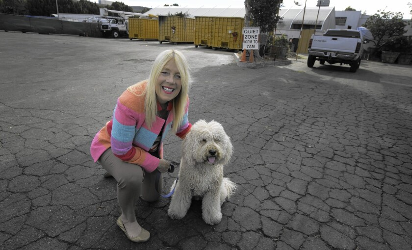 "Beverly Hills City Councilwoman Lili Bosse, shown with her Labradoodle, has led the charge for the first off-leash dog park in the city. ""This is something that our community has been waiting for so long,"" she said."