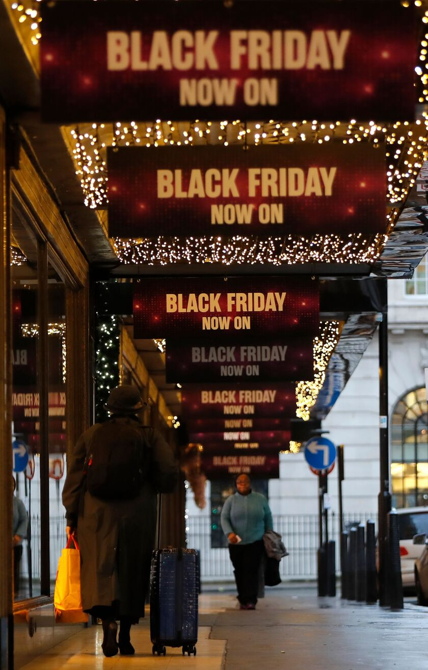 BLACK FRIDAY on Oxford Street in London