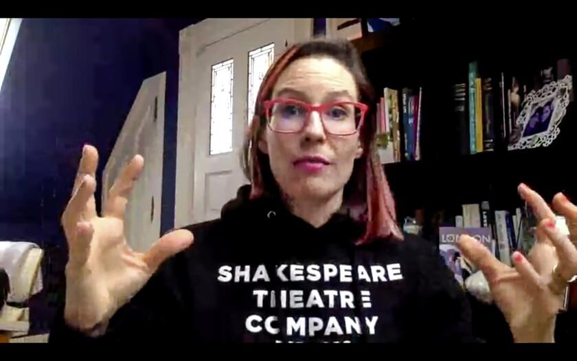 Lauren Gunderson teaches a playwriting class online in San Francisco