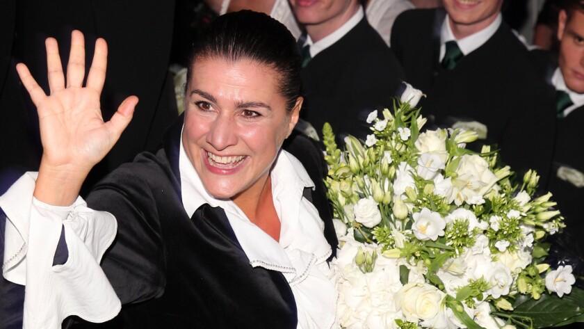 Cecilia Bartoli at ball in Austria