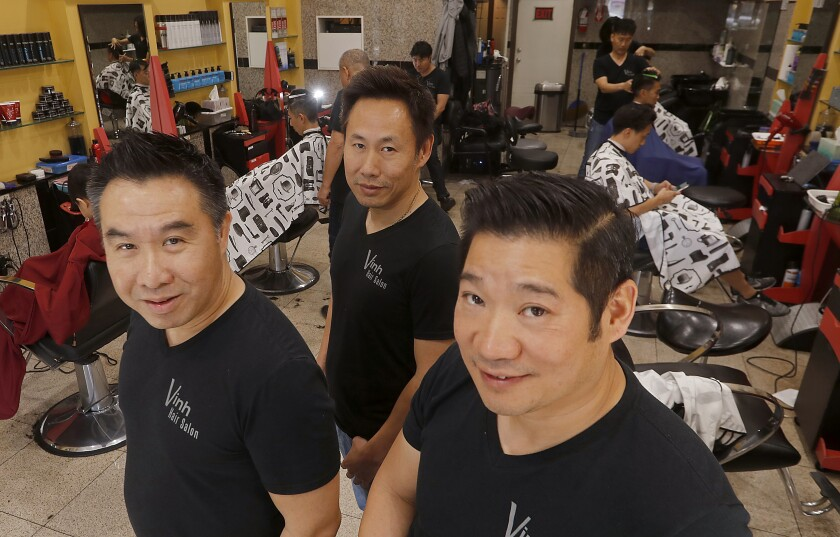 Asian hair, and what we talk about in L A  barbershops - Los