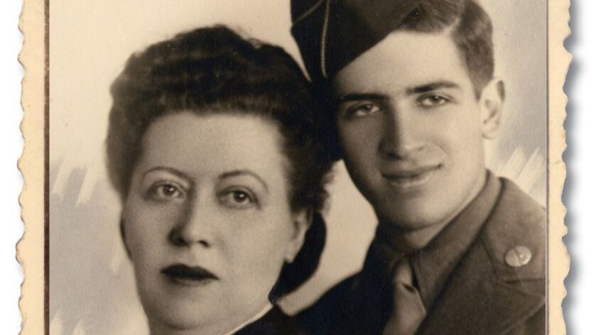 Undated photo of Clancy Sigal and his mother, Jennie.