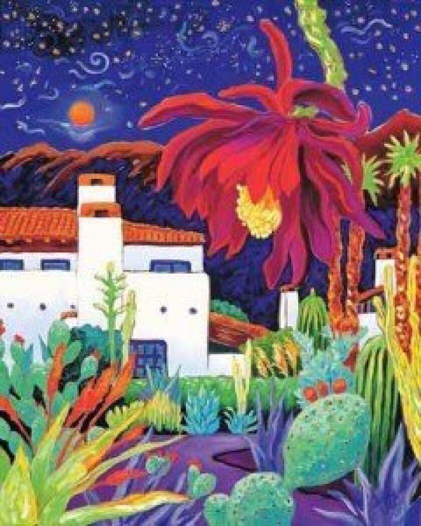 """Carey's painting """"Desert Night Music."""""""