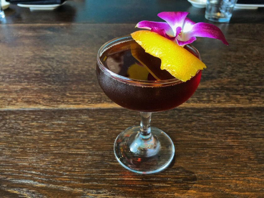 The Japanese to English cocktail at Cloak & Petal uses toasted sesame-infused Japanese whisky.