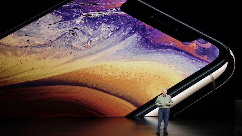 Phil Schiller, Apple's senior vice president of worldwide marketing, speaks about the Apple iPhone X