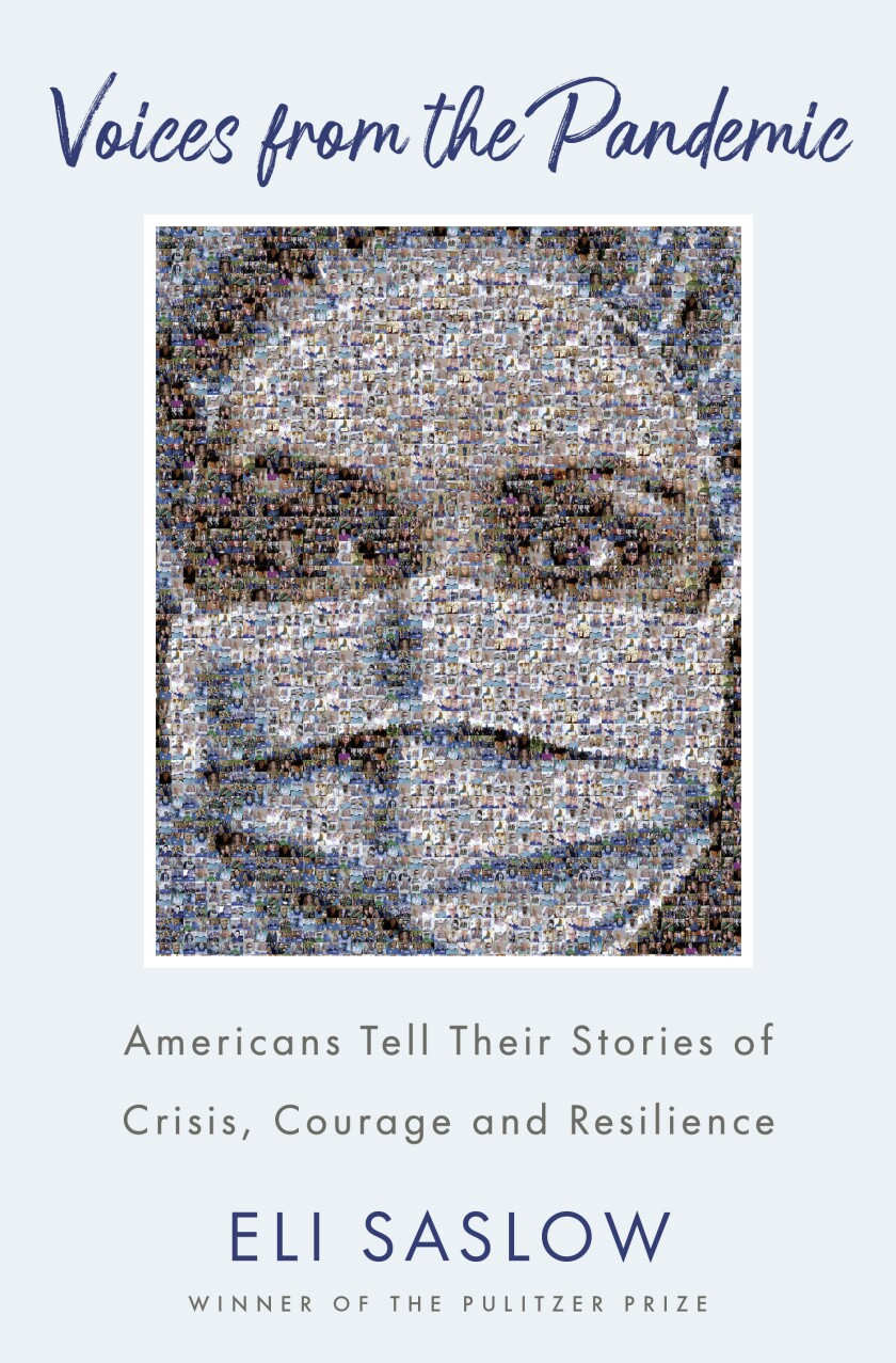 """This cover image released by Doubleday shows """"Voices from the Pandemic: Americans Tell Their Stories of Crisis, Courage and Resilience"""" by Eli Saslow. (Doubleday via AP)"""
