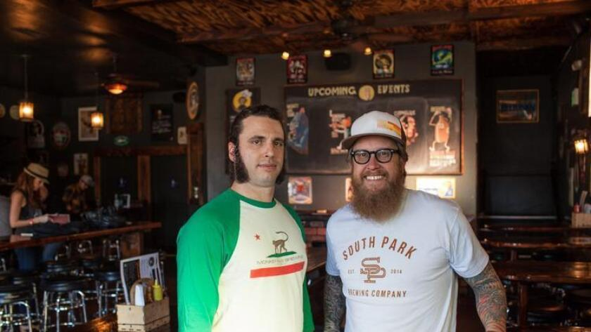 Cosimo Sorentino (left) Scot Blair at Monkey Paw Brewery in East Village. (Brogen Jessup Photography)
