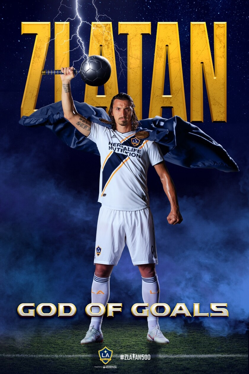 "The Costacos' ""God of Goals"" poster of Zlatan Ibrahimovic"