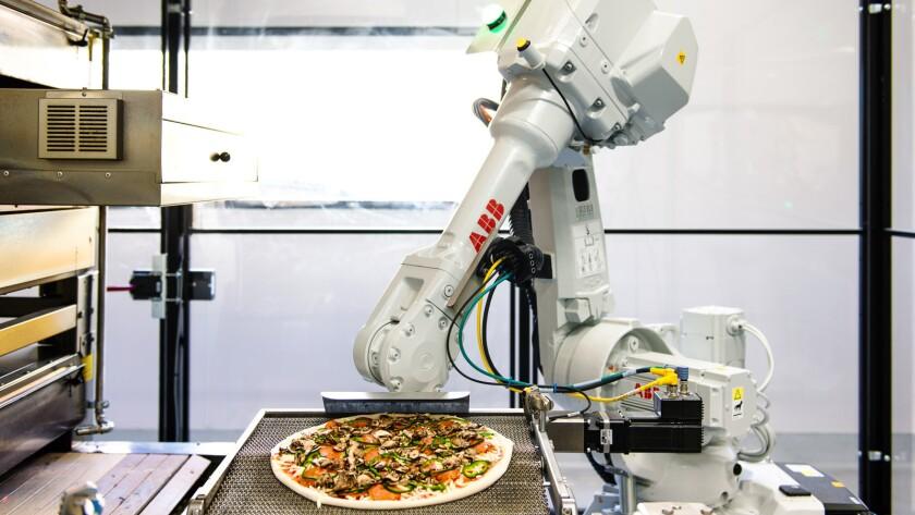 Zume robot pizza