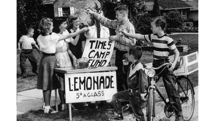 Los Angeles Times Camp Fund lemonade stand