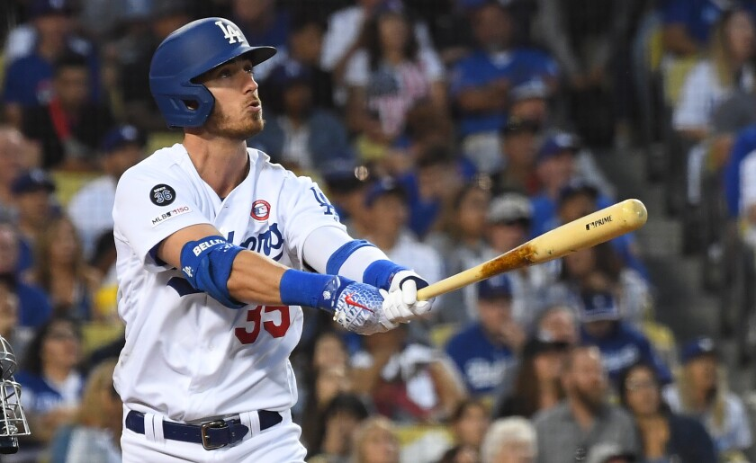 Dodgers' Cody Bellinger could clinch NL MVP honor with Christian Yelich injured