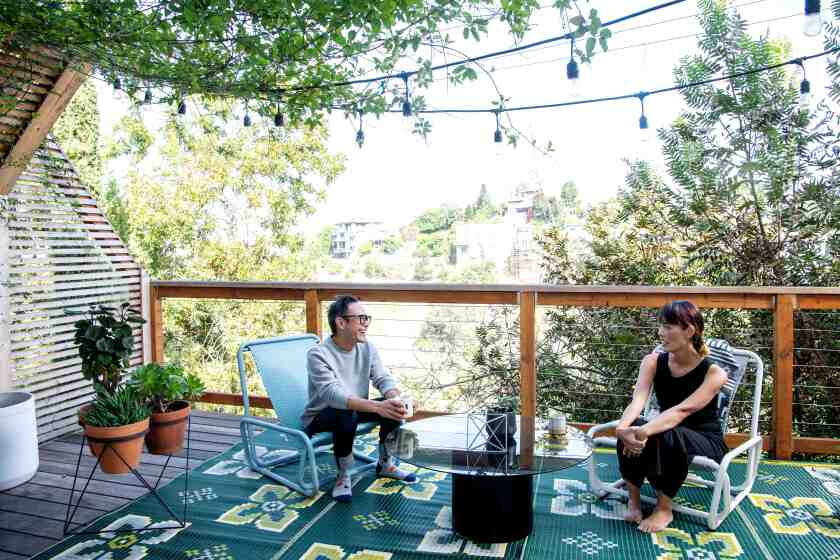 A new deck offers usable outdoor space.