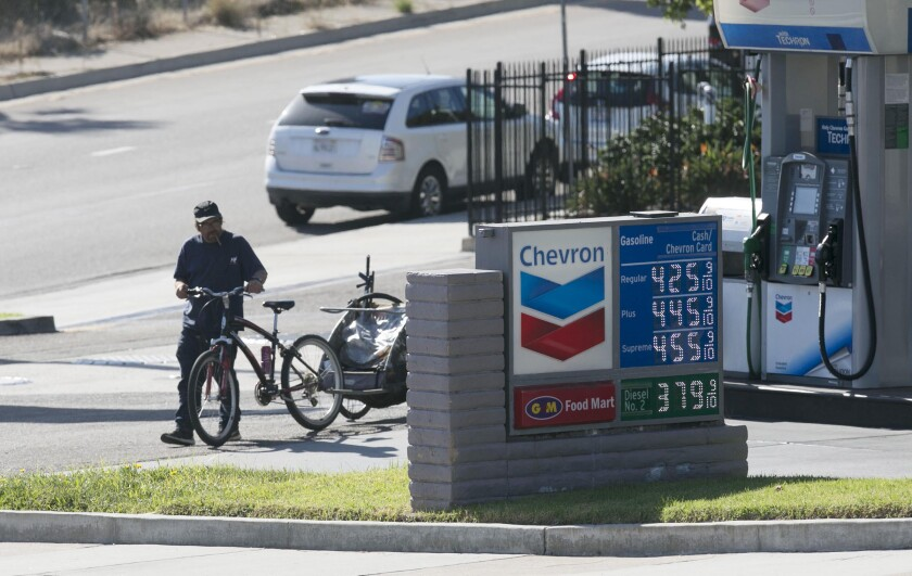Gas Prices San Diego >> San Diego Gasoline Prices Moving Back Down The San Diego