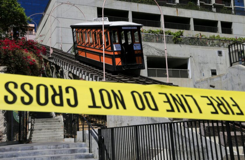 Angels Flight funicular could remain closed for six to nine months