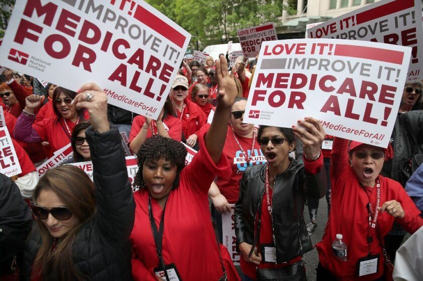 """Supporters of """"Medicare for all"""""""