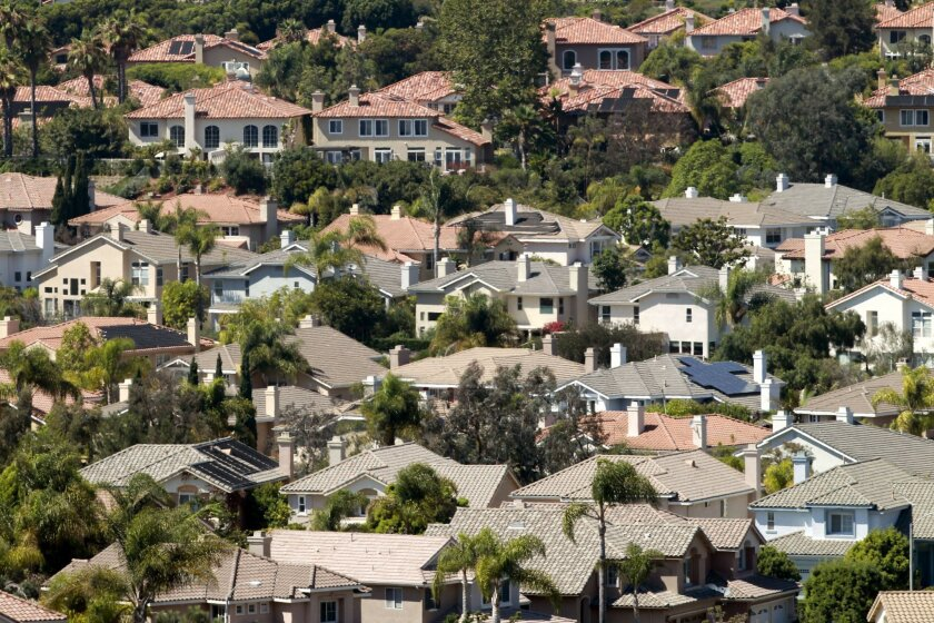 Homes in Carmel Valley, San Diego on a recent Friday.