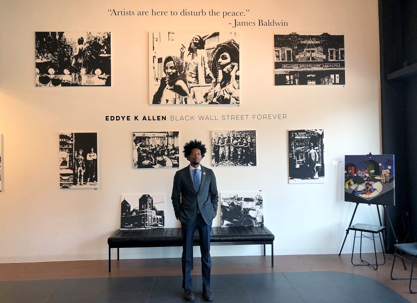 Ricco Wright, owner of Tulsa's Black Wall Street Gallery.