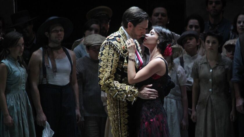 """Opera singer Ginger Costa-Jackson (right) will play the title role in """"Carmen"""" for the 13th time next weekend with San Diego Opera."""
