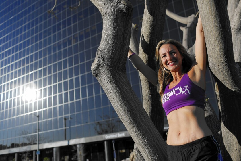 This year's Los Angeles Marathon will be Julie Weiss' 100th marathon in her ongoing quest to raise money for pancreatic cancer research.