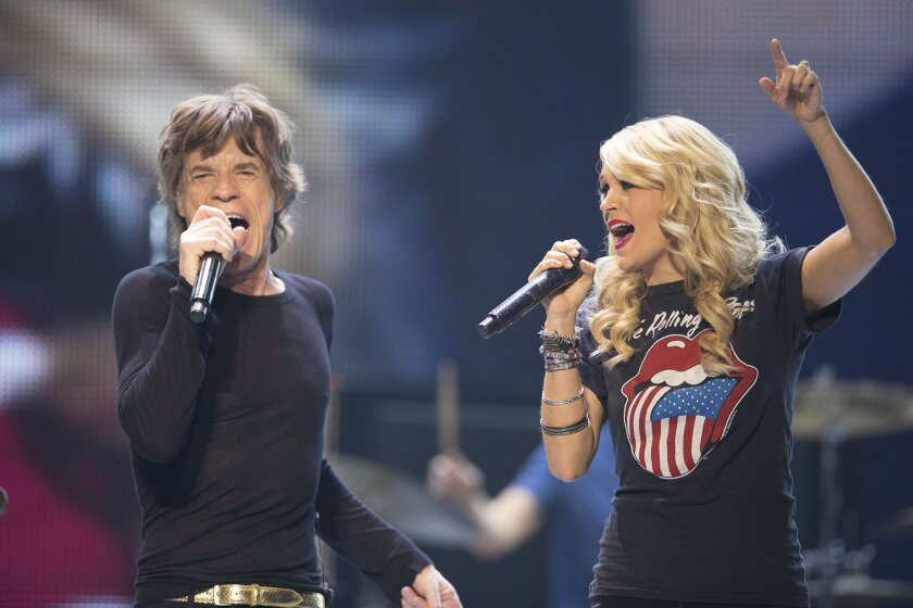 The Rolling Stones perform live with Carrie Underwood as part of the Stones 50 and Counting tour at the Air Canada Centre in Toronto, Canada, Saturday, May 25, 2013. Credit: Christopher Wahl