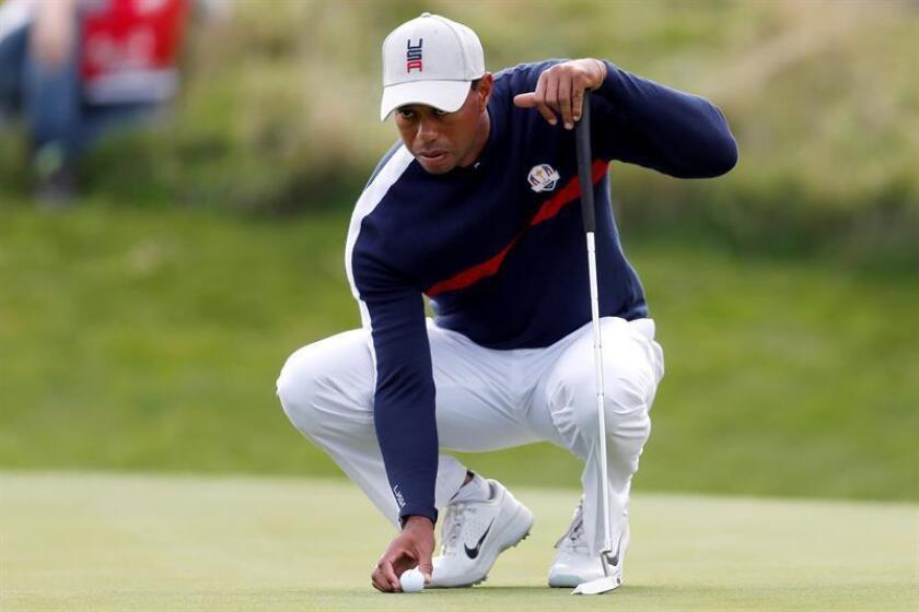 Fotografía del estadounidense Tiger Woods. EFE/Archivo