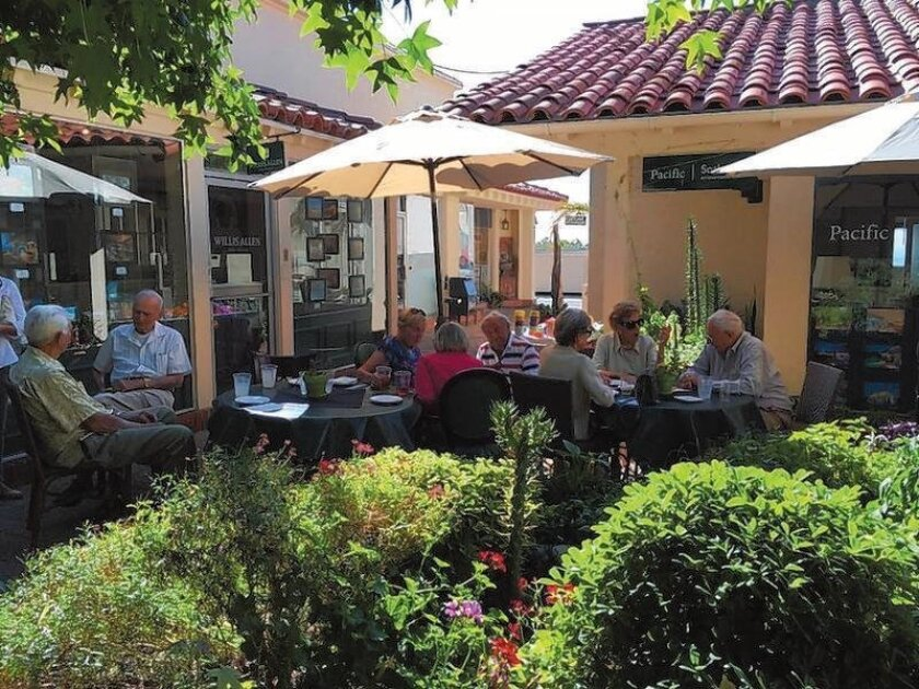 The first Summer Gathering was held on July 14 on the Bistro patio by the RSF Garden Club. Courtesy RSF Garden Club