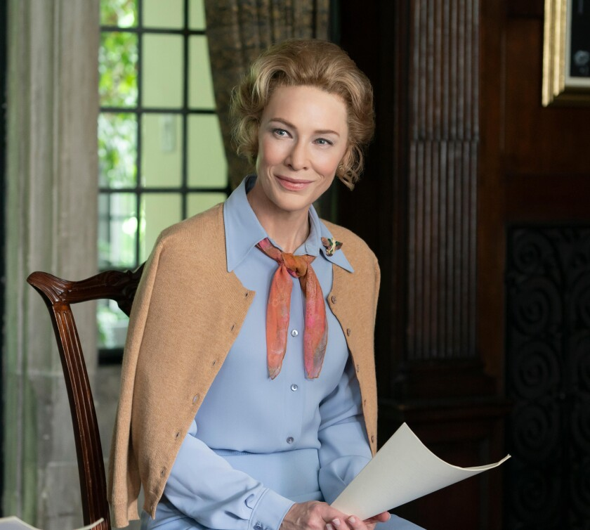 Cate Blanchett as Phyllis Schlafly on Mrs. America.