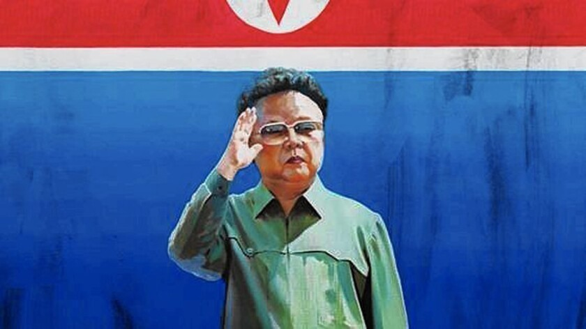 This painting of Kim Jong Il by Sun Mu caused a stir in South Korea, where it is controversial to paint images of North Korea's Kim dynasty.