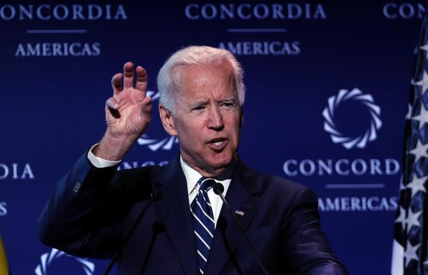 El exvicepresidente estadounidense Joe Biden durante una conferencia de prensa. EFE/Archivo